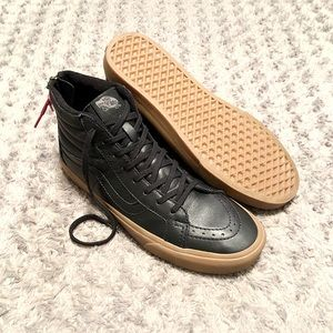 Vans hi-top leather paid $95 size 10.5 Like new!